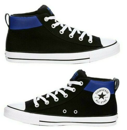 New CONVERSE Street Mid Men/'s Athletic Sneakers Casual Shoes black blue all sz