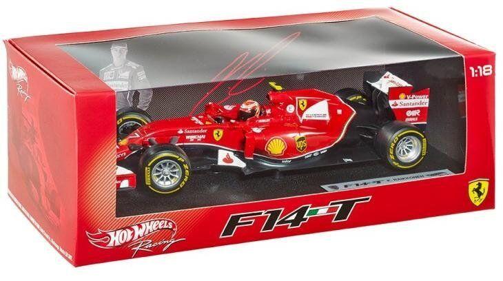 Ferrari f14t 2014 f1 kimi räikkönen hotwheels 1   18   bly68