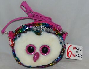 TY Beanie Boos FASHION GEAR Color Changing Sequins SLUSH Wristlet//Coin purse
