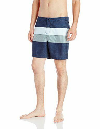 9980ce7598 Original Men's Pieced Stripe Print Fixed Swim Trunk, Dark Sapph.. Volley  Penguin nnpqme1300-Swimwear