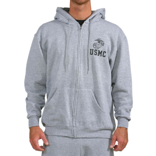 "USMC EG/&A /""Repel/"" Performance Zip Hoodie-Grey"