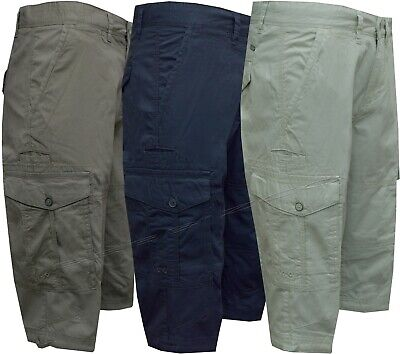 "Mens 30/""-48/"" Cargo Summer Shorts Ex Store Hiker Cotton Casual Work Pant"