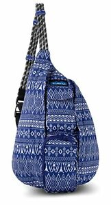 Details About Kavu Mini Rope Bag Kids Crossbody Sling Cotton Backpack Purple Pattern