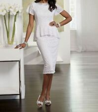 woman's sz 6  Debran White Lace Dress by Ashro new