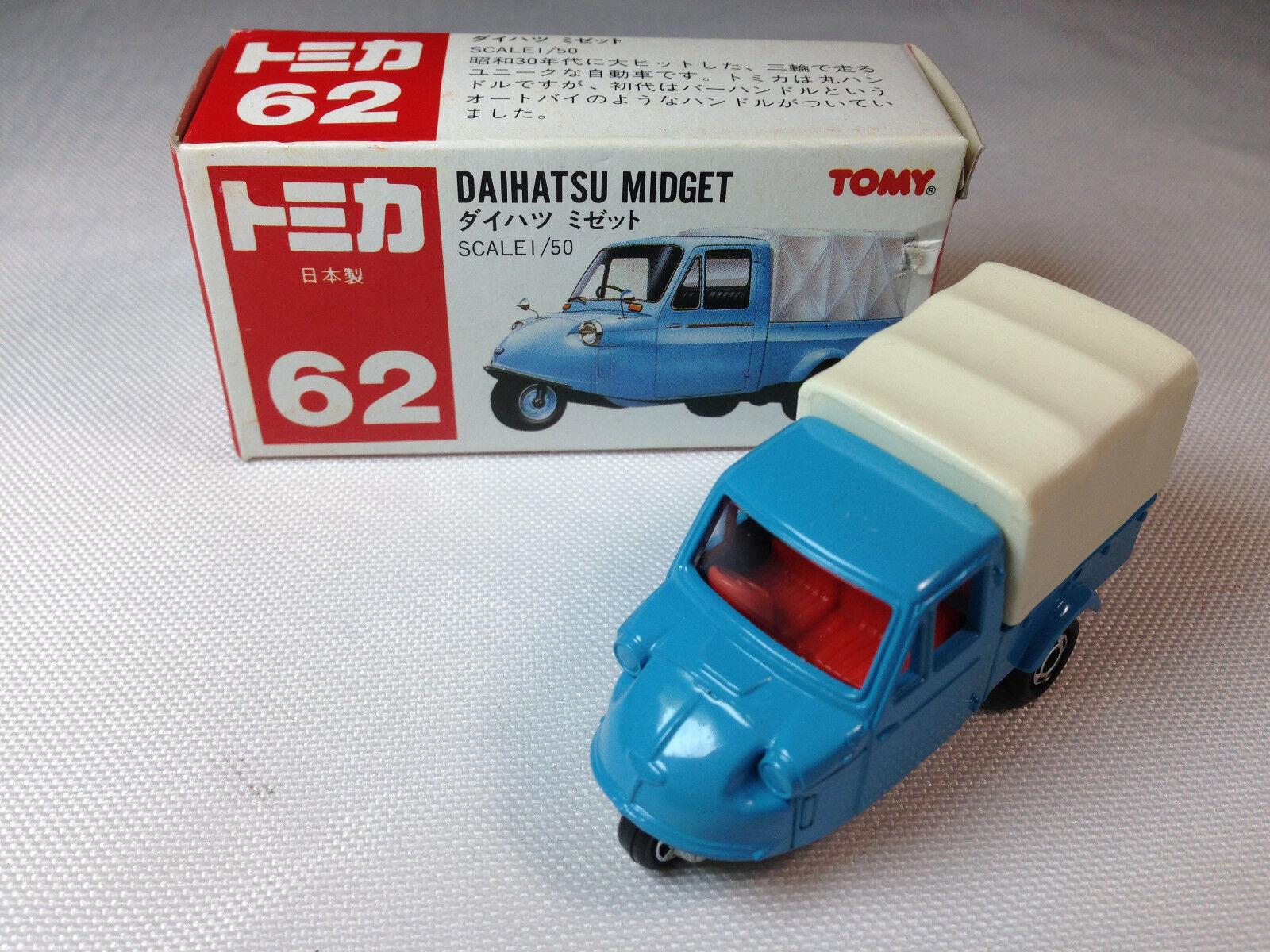 Tomy Tomica No. 62 Daihatsu Midget--1 50--Made in Japan--Collector's item.