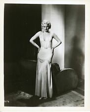 JEAN HARLOW – HANDS ON HIS IN ELEGANT DRESS – JHF6 – 1950s REPRO PHOTO