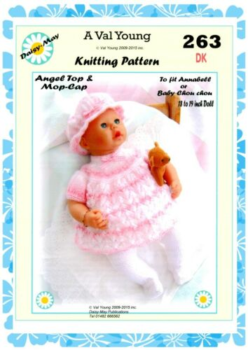 """DOLLS KNITTING PATTERN no 263 for //ANNABELL 18/""""//19/"""" doll by Daisy-May."""