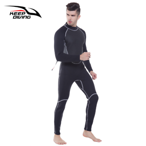 Keep Diving MEN NEOPRENE WETSUIT 3mm SCR Scuba Diving Suit Long Warm Watersuit