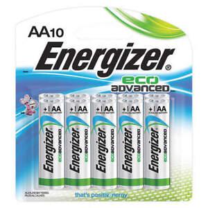 NEW Energizer Battery XR91BP-10 EcoAdvanced AA Alkaline Batteries 10-Count AA10