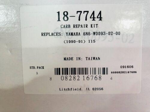 Sierra 18-7744 Marine Carburetor Kit Fits Yamaha Outboard Motor 6N6-W0093-00-00