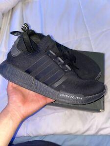 Adidas Originals Nmd R1 Japan Bd7754 Black Black White Mens Size