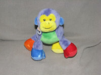 Gund Tutti Frutti Stuffed Plush Purple Small Mini Monkey Toy Doll Lovey 58316