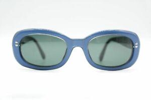 Vintage-Sergio-Tacchini-1536S-Blau-Schwarz-oval-Sonnenbrille-sunglasses-Brille