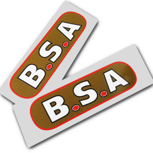 BSA pre war style  Motorcycle decals graphics  x 2 pieces