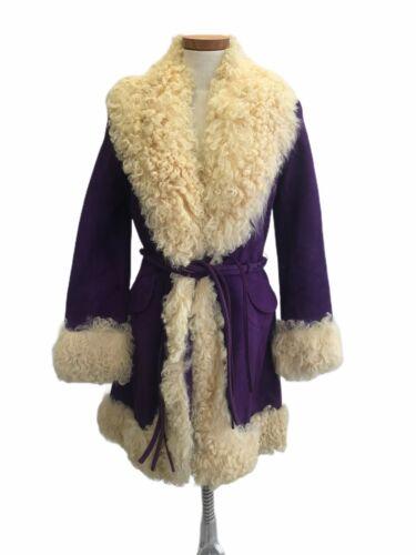 Vintage 1960s Lilli Ann Boutique Purple Suede Leat