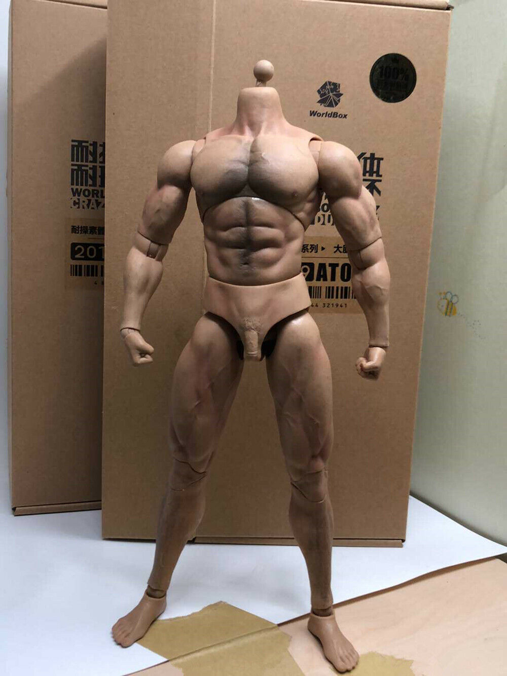 1 6 WORLDBOX AT027 Durable  -Ripped  Body BW Cou 12 in (environ 30.48 cm) Mâle Figure Model Toy  100% livraison gratuite