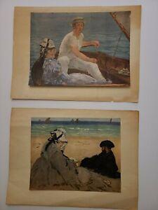 Vintage 1950/60s: 2 Prints: EDOUARD MANET Metropolitan Museum of Art