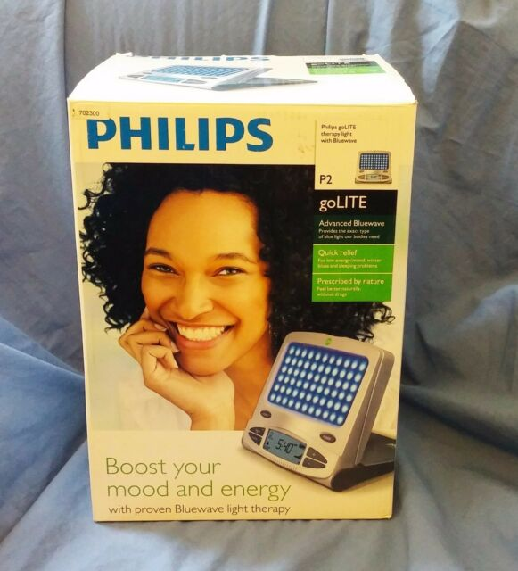 PHILIPS goLITE Therapy Light with Bluewave, Pouch, AC Adaptor - HF3228/60