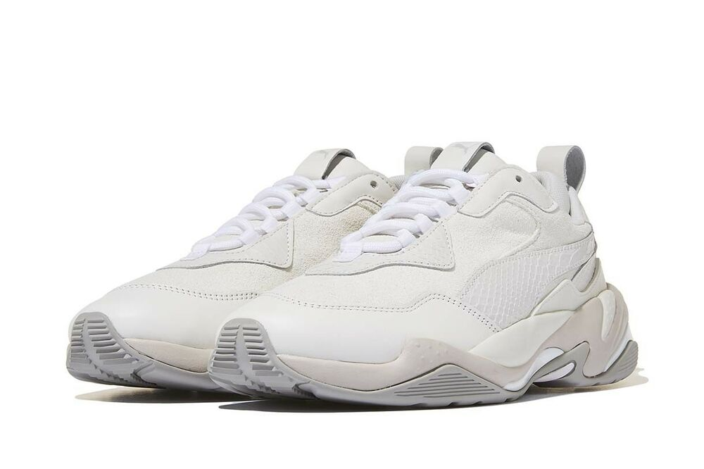 [PUMA] Thunder Desert blanc 36799703, Sports chaussures Unisex athlétique Sneakers