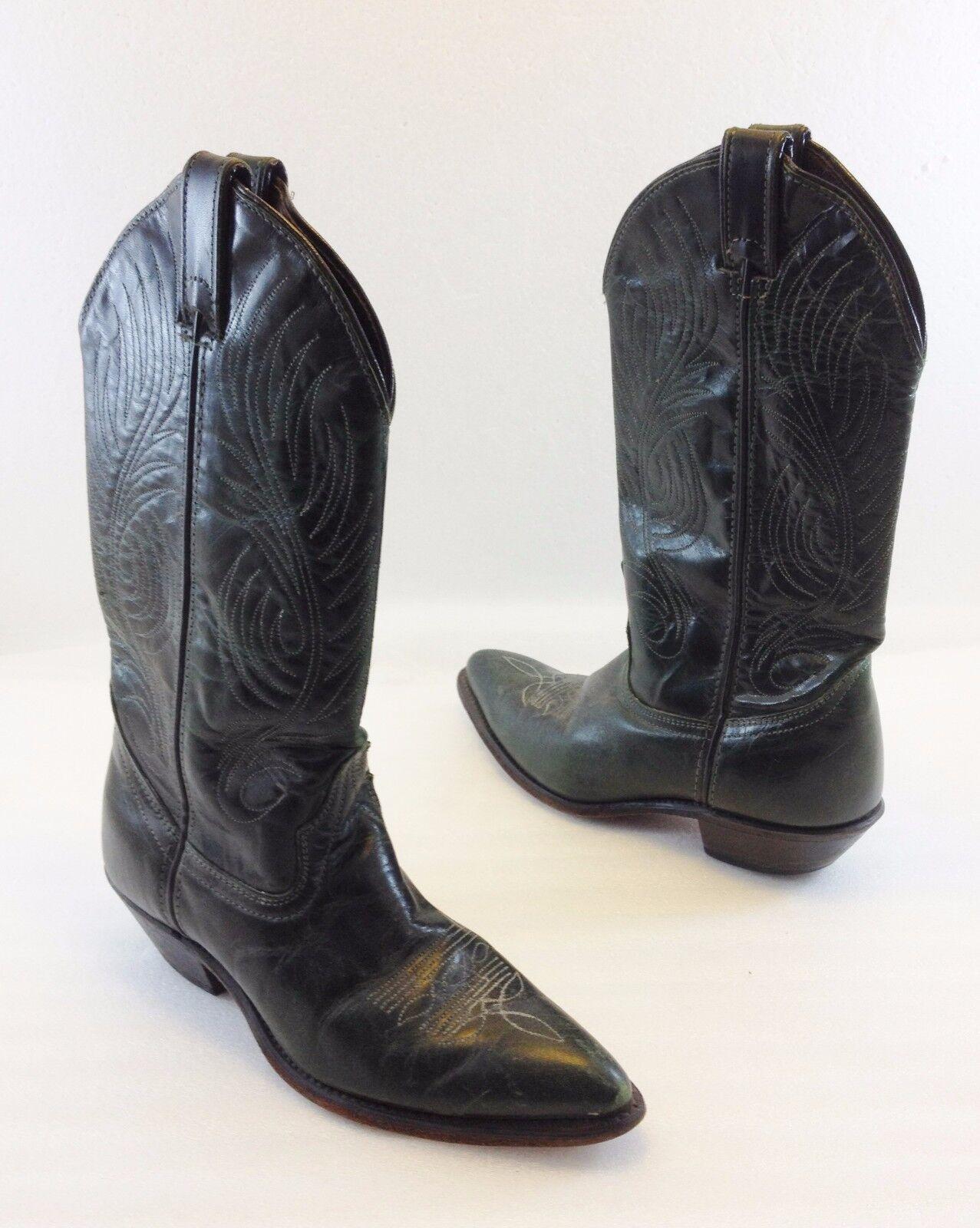 Code West West West damen 6M Grün Leather Cowboy Western Stiefel Made in USA ec4d80