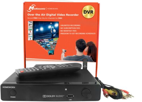 Digital Converter Box with DVR Black Mediasonic