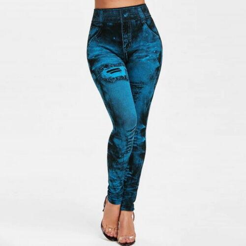 Women Elsastic Denim Jeans Jeggings Skinny Leggings LADIES JEGGINGS KNEE Trouser