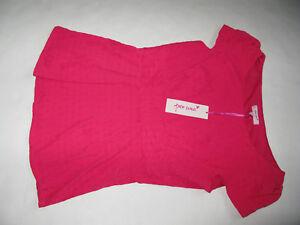 Rosa-brillante-UNA-M-amp-S-N-PER-Top-Blusa-MARKS-amp-SPENCER-UK-Size-12-Roxy-ondulacion