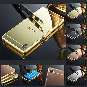 Brillante-espejo-de-metal-de-aluminio-de-lujo-duro-caso-cubierta-trasera-para-telefonos-moviles