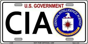 Cia Metal Novelty License Plate Car Front Tag Ebay