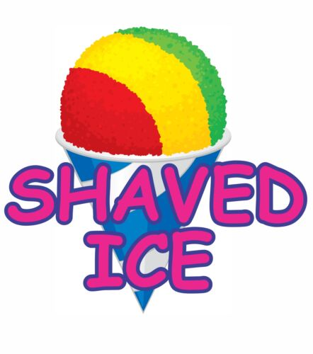SHAVED ICE Decal Sticker for Restaurant Delivery Shop Window Car Sign