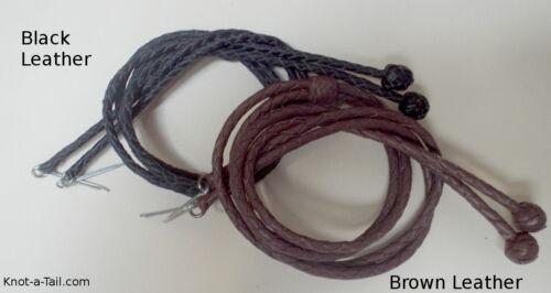 Cuir, Stampede String, chinstrap Hat String, Brun ou Noir, Chapeau String