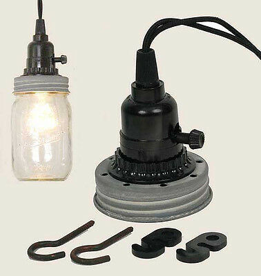 GRA Mason Canning Fruit Jar Industrial Pendant Light Lamp Kit Use Your Mason Jar