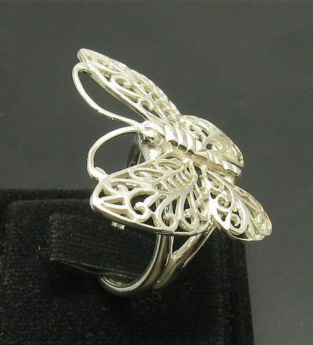Sterling Silver Ring Solid 925 papillon filigrane NEUF