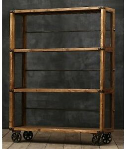 Image Is Loading Bonner Mesh Bookcase Bookshelf On Cast Iron