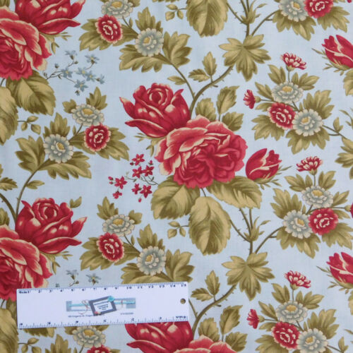 Patchwork Quilting Sewing Fabric MODA ROSEWOOD FLORAL ROSES 50x55cm FQ New