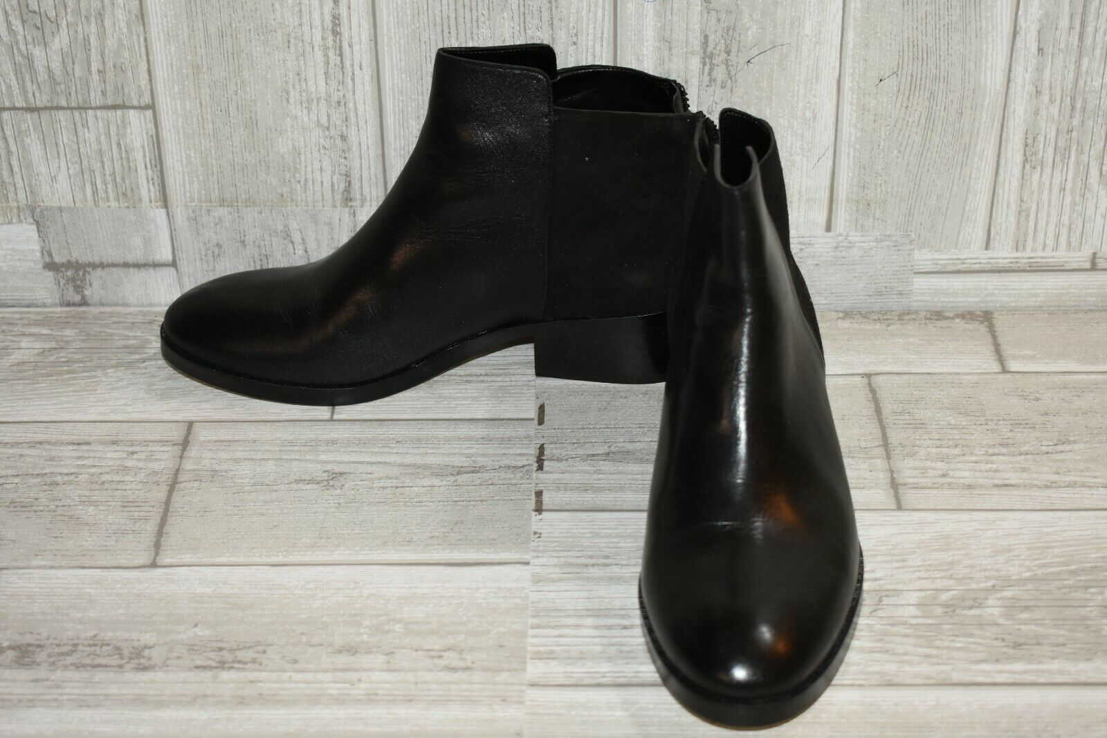Cole Haan Elion Leather & Suede Booties, Women's Size 6B, Black