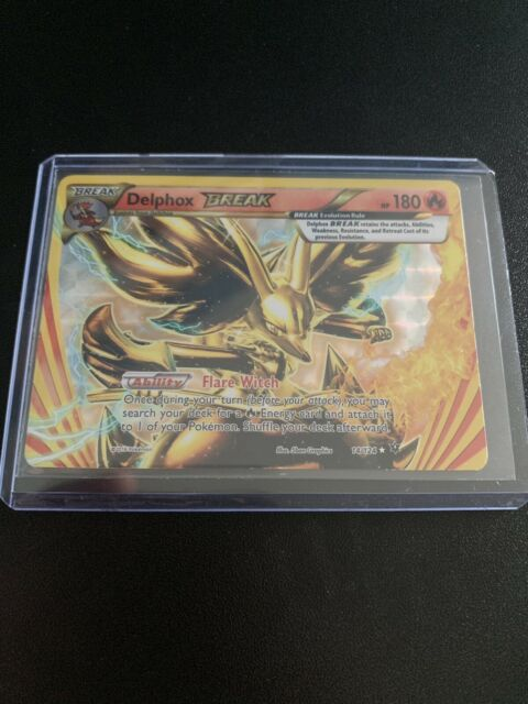 14//124 Pokemon Card TCG Delphox BREAK Fates Collide Holo Shiny Rare.