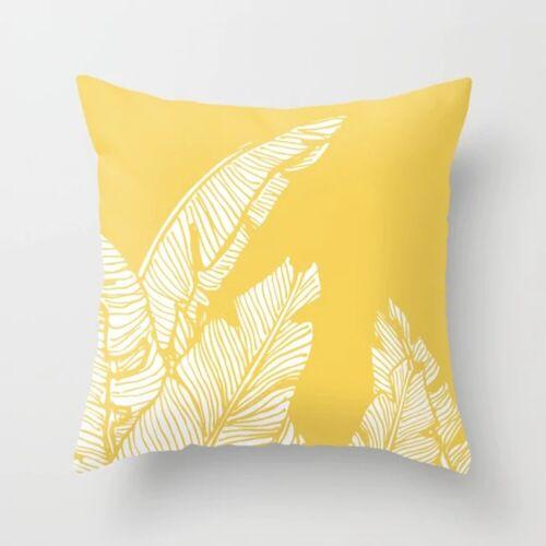 Yellow Geometric Cushion Cover Home Decor Sofa Pillow Cases Peach Skin Cashmere
