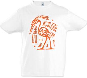 Aztec-Ibis-Kinder-Jungen-T-Shirt-Azteken-Vogel-Taetowierer-Indianer-Stamm-Symbol