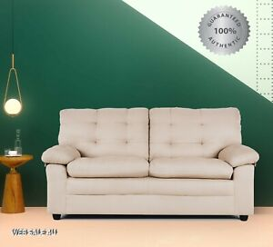 Astonishing Details About Sofa Couch Microfiber Loveseat Taupe Padded Modern Soft Seat Plush Hardwood Fram Machost Co Dining Chair Design Ideas Machostcouk