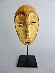 Actif Jolie Masquette Africaine Decorative Rdc Tribu Lega Mask Art African Art ProcéDéS De Teinture Minutieux
