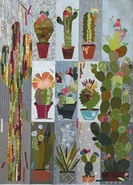 COLLAGE CACTUS SAMPLER QUILT PATTERN, from Fiberworks INC, *NEW*