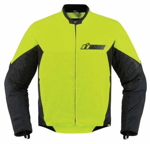 2XL ICON Motosports KONFLICT Textile Motorcycle Jacket 2X-Large Hi-Viz