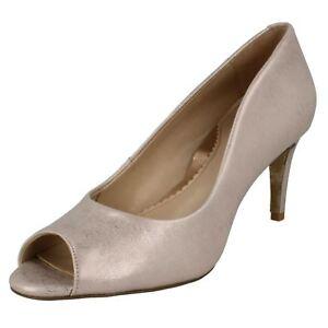 Van Dal Ladies Peep Toe Shoes 'Heigham