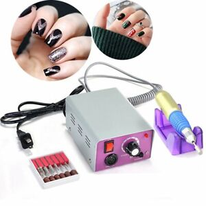 Professional-Nail-FILE-COMPLETE-Acrylic-Manicure-Drill-Sand-Electric-Machine-New
