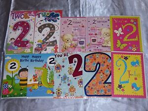 Image Is Loading 2 YEAR OLD BIRTHDAY CARD BOY GIRL SECOND