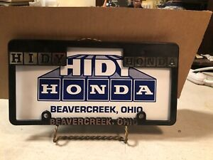 Larry Simmons Honda >> Vintage Advertising Hidy Honda Dealership License Plate/Frame Beavercreek OH | eBay