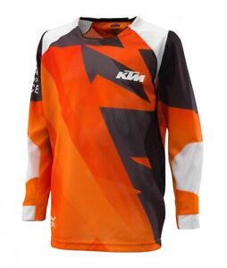 KTM-Pounce-Shirt-Kids-Orange-Off-road-Motocross-Motorcycle-Jersey-New