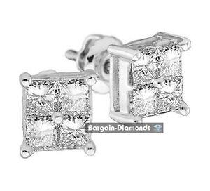 diamond-25-carat-14K-gold-stud-screwback-earrings-princess-invisible-men-unisex
