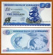 Zimbabwe, 2 dollars 1994, P-1 (1c), UNC, First Independent Issue